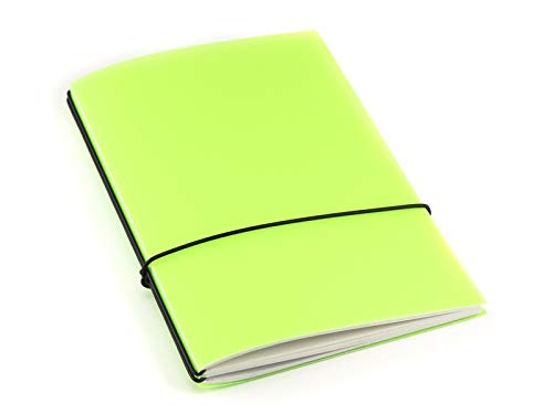 A5, revolutionäres X17-Notizbuch/Personal Organizer! Aus robustem Polypropylen, limone transluzent; Inhalt: 2 Notizhefte (blanko, kariert), austauschbar=nachhaltig!