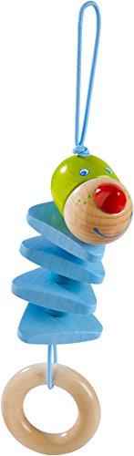 Haba 303884 - hangfiguur draak Duri | babyspeelgoed van hout met grijpring | Houten speelgoed om op te hangen | Vanaf 6 maanden