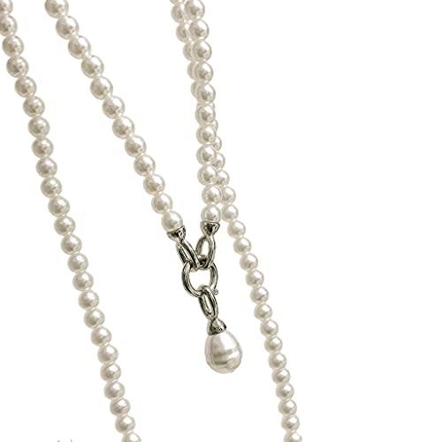 shamjina Trendy Popular French Fashion Satchel Pearl Waist Chain for Shirt Suit