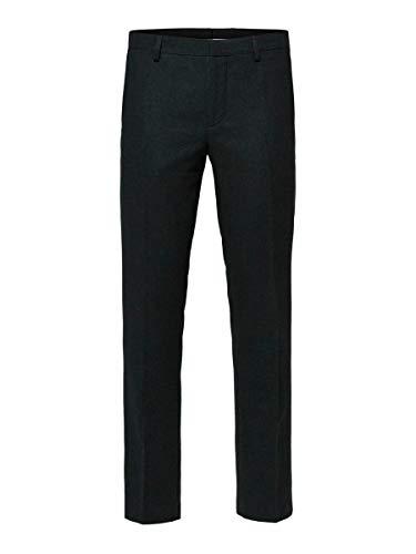 SELECTED HOMME SLHSLIM-MYLOIVER TRS B Noos Pantaloni Completo, Verde (Dark Green Dark Green), 106 Uomo