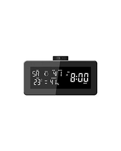 LKM Security lkm-rsb01bk Barómetro Radio Reloj Despertador con Cámara Oculta, Negro