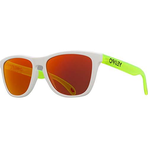 Oakley Frogskins Prizm Sunglasses Matte White/Matte Uranium/Prizm Ruby, One Size - Men's