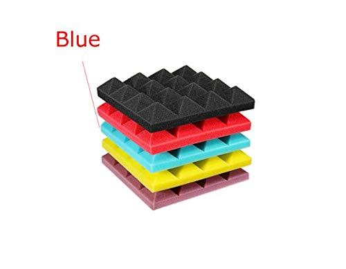 EsportsMJJ 25x25x5cm Mini piramide geluid isolatie geluidsisolatie Studio schuim tegels Blauw