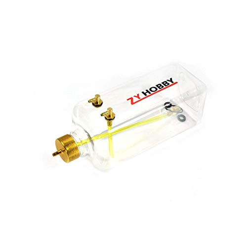 RC Gas Fuel Tank 700ML,ZYHOBBY Fuel Bottle for RC Airplane Model in USA-Transparent Plastic