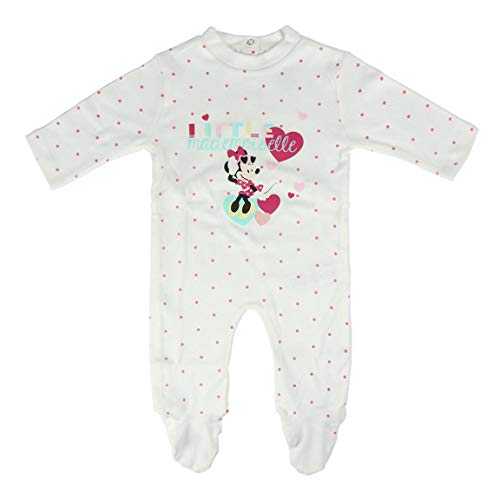 Artesania Cerda Pelele Minnie, Blanco (Blanco C01), 18m para Bebés