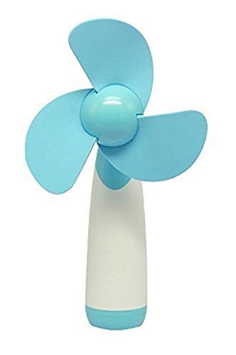 Hosaire al aire libre Finanze di mano portatile con batterie del mini ventilatore di aria fresco per la casa e il escursione M blu