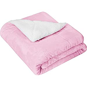 VAS COLLECTIONS New Born Baby All Season Ultra Soft Plush Kids Sherpa Blanket (Baby Pink) 16 31zvDLDgaRL. SS300