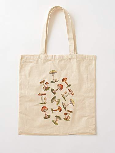 Générique Fungi Magical Tree Dead Mushroom Nature Food Stump Mushrooms | Einkaufstaschen aus Segeltuch mit Griffen, Einkaufstaschen aus nachhaltiger Baumwolle