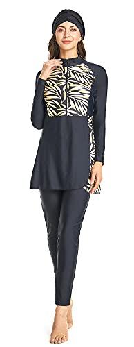 ShuoBeiter Nuevo Trajes de baño para Mujer Hijab Modesto Swimwear Completo Cubrir Nadando Ropa de Playa Nadar Traje Disfraz (S2, XXL)