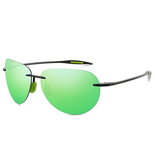 NBJSL Gafas de sol deportivas sin montura con diseño retro para hombres y mujeres - Gafas de sol polarizadas con protección Uv400 con un embalaje exquisito