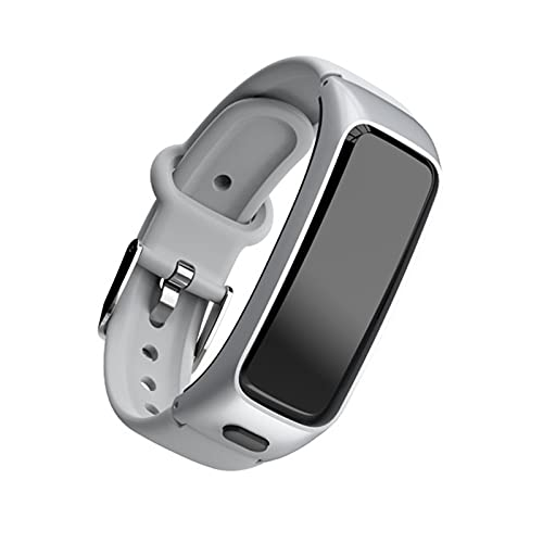 CXPL 2 En 1 Pulsera Inteligente, Adecuada para Android iOS con Auriculares Bluetooth Tarifa Cardíaca Monitor De Presión Arterial Smart Band Sports Fitness Tracker,A