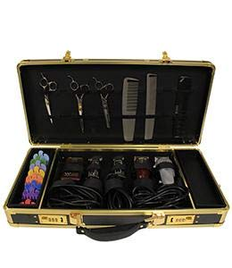 HairArt Barber Case, Barber Kit Tool Case, Tools Not Included (Gold and Black)