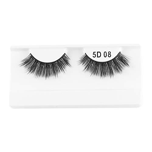 1 paire de cils de vison 3D entrecroisés brins dramatiques à haut volume faux cils yeux outils de maquillage(08)