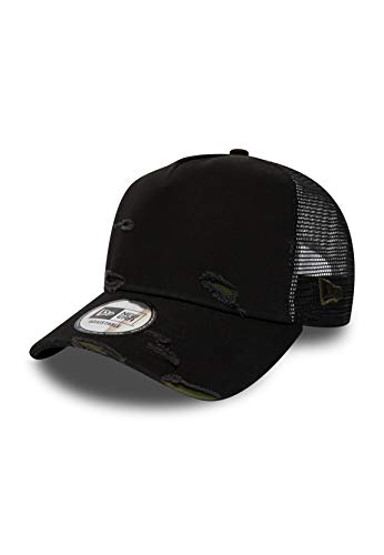 New Era NE Distressed Trucker Adjustable Cap Basic Trucker Schwarz, Size:ONE Size
