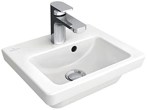 Villeroy & Boch SUBWAY 2.0 Handwaschbecken 370 x 305 mm, mit Hahnloch, mit Überlauf weiß