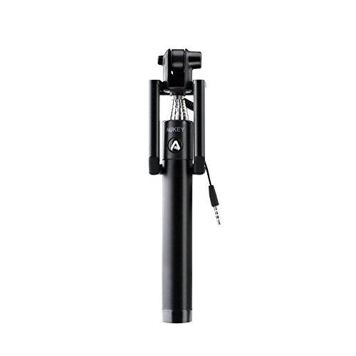 Aukey Selfie-Stick HD-P8, U-Form, 270°-Winkel, verstellbar für iPhone, Samsung, Motorola, LG, Huawei, usw.