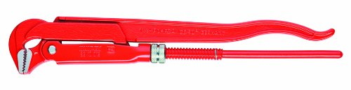 KNIPEX Tools - Swedish Pattern Pipe Wrench, 90 Degree Angled (8310015)