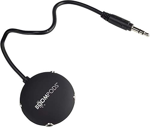 BOOMPODS Multipod Headphone Audio Splitter - 4 Way 3.55mm Audio Stereo Headset Adapter, Compatible with Smartphone, Tablet, Computer, DVD or MP3 players (Black Eco Pack)