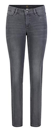 MAC Damen Straight Leg Jeanshose Dream, Grau (Dark Grey Used Wash D975), W44/L30