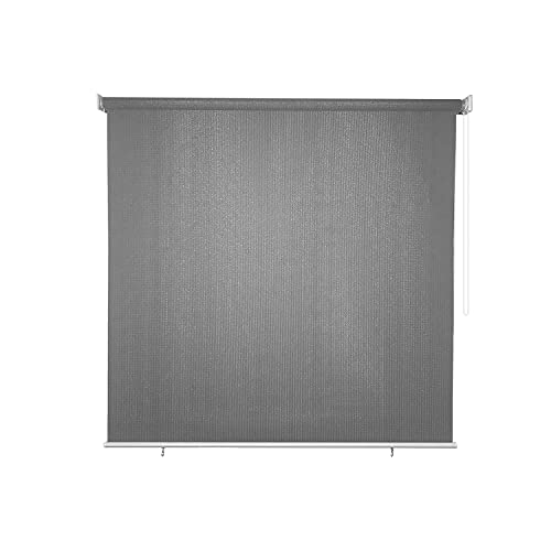 Osimlead Outdoor Roller Shade Patio Roll Up Shade Blinds for Porch Gazebo 4' x 6', Grey