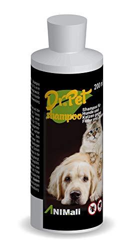 Dr Pet Zecken Floh Parasiten Shampoo Hunde Katzen gegen Flöhe und Zecken