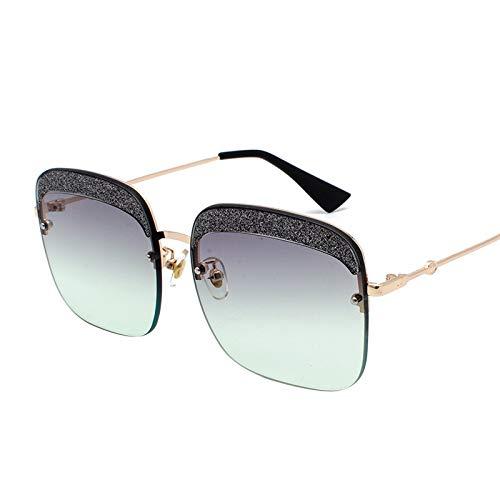 Gafas de Sol Gafas De Sol con Caja Grande De Protección UV Gafas De Sol con Lente De Color Degradado Gafas De Sol Cuadradas protección para los Ojos (Color : C)