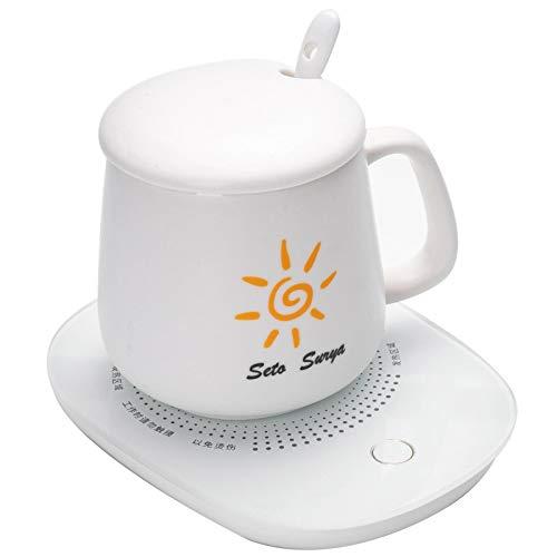 movement Warm Cup Control Automatischer Thermostat Untersetzer 55 Grad Elektrische Isolierung Basis Temperaturregelung Heizung Milchweiß