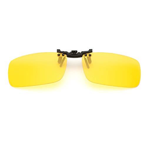Embryform Gafas de sol con clip, unisex, polarizadas, sin montura, con clip de apertura hacia arriba se pueden enganchar en las gafas graduadas