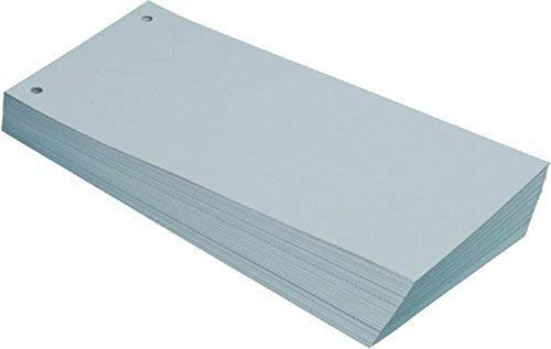 Büroring BüroLine Trennstreifen grau 10,5x24cm, 190g/qm Karton, geloc , 660575