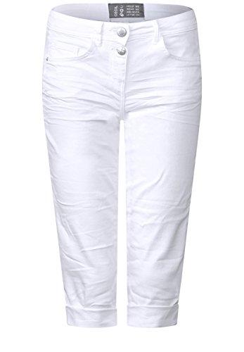 CECIL Damen Scarlett Jeans, White Denim, 33W / L