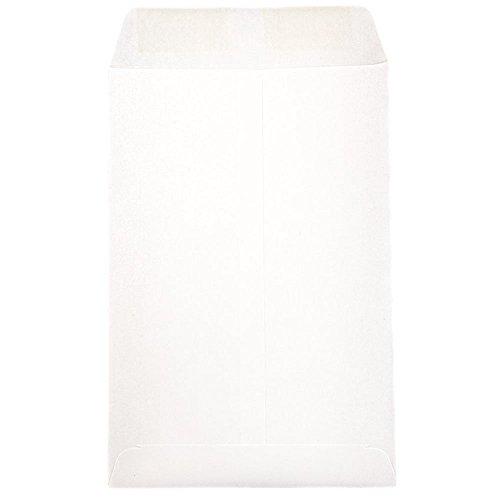 JAM PAPER 6 x 9 Open End Catalog Commercial Envelopes - White - 50/Pack