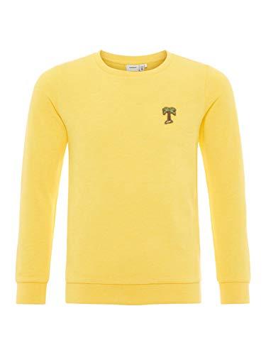 NAME IT NAME IT Mädchen Sweatshirt NKFBERBEL LS Sweat UNB NOOS, Gelb (Primrose Yellow), 146 (Herstellergröße: 134-140)