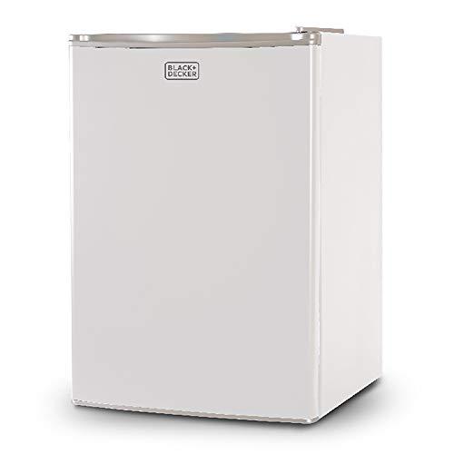 BLACK+DECKER BCRK25W Compact Refrigerator Energy Star Single Door Mini Fridge with Freezer, 2.5 Cubic Ft., White