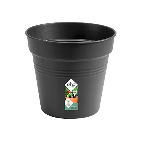 Elho Green Basics Vaso da Coltura, Living Black, 35 cm