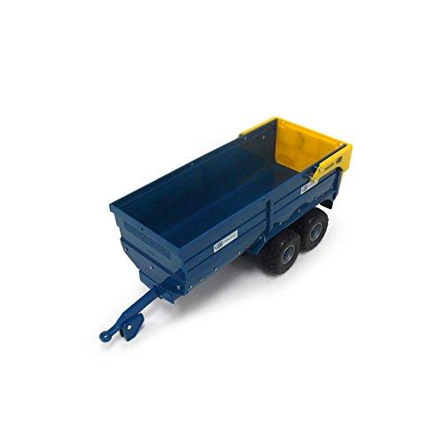 """TOMY Britains Silage Anhänger """"Kane"""" in blau - Traktoranhänger aus Metall - fördert die Geschicklichkeit Ihres Kindes - ab 3 Jahre"""