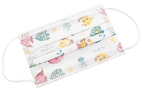 TBOC Nicht wiederverwendbare Hygienemaske für Kinder - [Packung 30 Einheiten] 3 Schichten [Farbe 2]