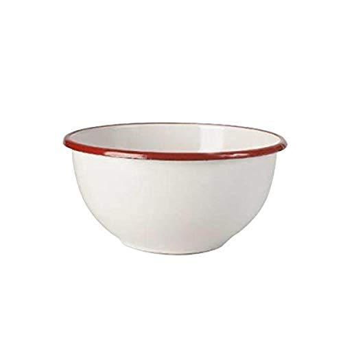 IBILI 908312 Bol, Porcelaine, Blanc/Rouge, 12 cm