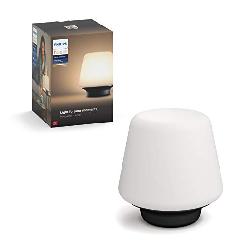Philips Hue White Ambiance Wellness Dimmable LED Smart Table Lamp (Works with Alexa Apple HomeKit...