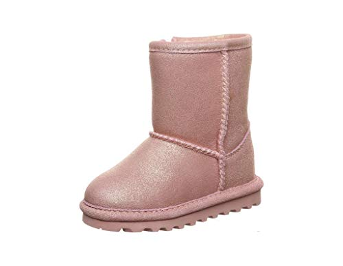 BEARPAW Elle Toddler Zipper Girls' Toddler Boot 12 M US Little Kid Pink-Glitter