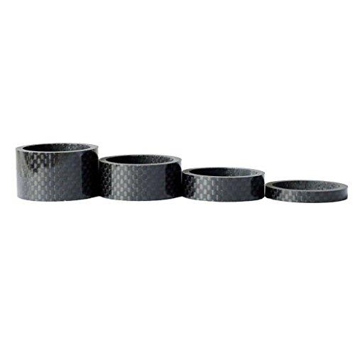 Romote 1 Satz 4pcs Fahrrad-Carbon-Faser-Spacer Headset Stem Washer 5/10/15 / 20MM