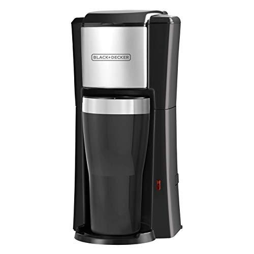 BLACK+DECKER Single Serve Coffeemaker, Black, CM618 (Renewed)