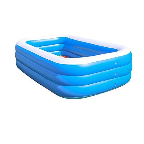 Natación de la familia piscina inflable, resistentes al desgaste grueso Marina Ball Pool Juego del jardín piscinas de tamaño piscina piscina inflable azul Multi Family Park Agua (Tamaño: 210 cm) kairu