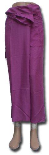 Thai Fisherman Pants Yoga violet écharpe longue pantalons paréos douces