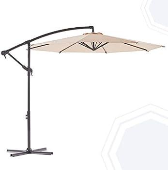 Bluu Banyan 10 FT Patio Offset Hanging Umbrella