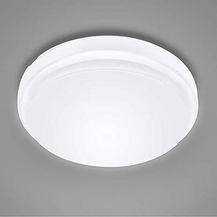 Plafón Led Techo 24W Lámpara de Techo Equivalente a 200W Resistente al Agua IP54 Blanco Frío 2200 Lúmenes 6000K Luz de Techo Led para Baño Cocina