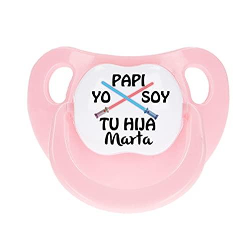 NANNUK - Chupete personalizado para bebé Yo soy tu hij@