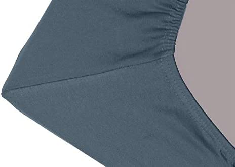 """Double Jersey PACK OF 2 Fitted Sheets 100/% Finest Cotton /– SINGLE Bed Size /– Super soft Non-Iron Wrinkle Free /– Deep Pocket 16/'/'//38 cm for Mattresses up to 12/""""//30cm - Single 90x190//200 - Sky Blue"""
