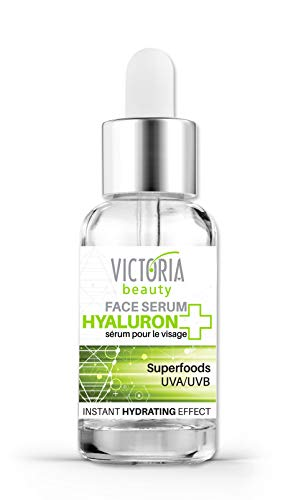 Victoria Beauty - Hyaluron Serum hochkonzentriert, Anti Aging Serum mit Superfoods, Gesichtsserum - spendet viel Feuchtigkeit (1 x 20 ml)