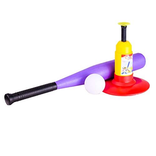 LUOEM Kinder Baseball Spielzeug Tee T Ball Set für Kleinkind Kinder Kinder Teig Trainingshilfe Sport Outdoor Spielzeug Geburtstagsgeschenk Kunststoff Zufällige Baseballschläger Farbe