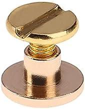 20st Riemschroef Riem Klinknagels Schroef voor Bagage Craft Kleding/Tas/Schoenen5/6.5/8mm-6.5mm, Goud